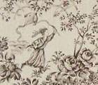 grossiste Tissus Ameublement toile de jouy Parc Monceau 150 x100 cm