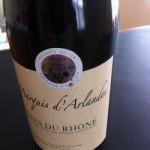 Svendita stock vino Cotes du Rhone Marquis d'Arlandes